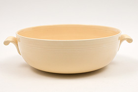 Vintage Homer Laughlin Pottery Company Tricolator Products Bowl in Original Ivory Glaze