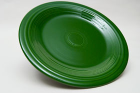 50s Forest Green  Fiesta 10 inch Dinner Plate Fiestaware Pottery For Sale