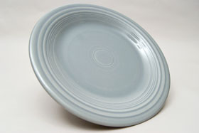 50s Gray  Fiesta 10 inch Dinner Plate Fiestaware Pottery For Sale
