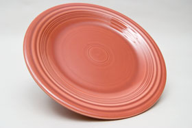 50s Rose  Fiesta 10 inch Dinner Plate Fiestaware Pottery For Sale