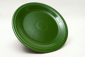 Vintage Fiesta Forest Green 9 Inch Plate  Fiestaware Pottery Vase: Gift, Rare, Hard to Find, Buy Onlline Now, American Antique Pottery