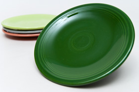Vintage Fiestaware Plate in Original 50s Forest Green