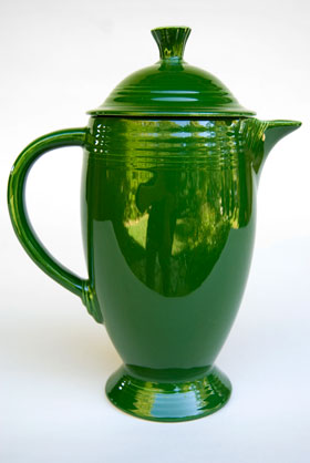 50s Fiestaware Forest Green Coffee Pot