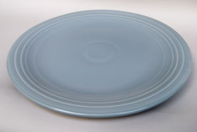 50s Fiestaware Large 15 inch  Vintage 50s Gray Chop Plate