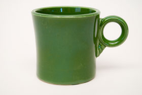 Vintage Fiestaware Forest Green Tom and Jerry Mug: Fiesta Dinnerware 30s 40s 50s 60s For Sale