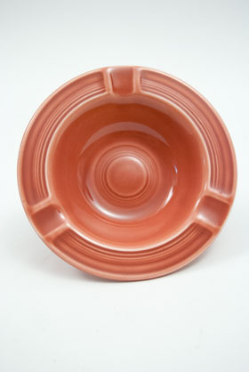 Vintage Fiestaware Rose Ashtray: Fiesta Dinnerware 30s 40s 50s 60s For Sale