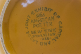 American Potter Homer Laughlin 1940 New York Worlds Fair Large Yellow Vase