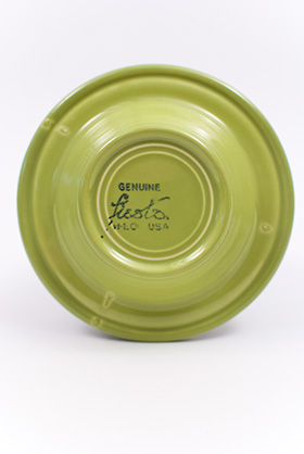 Vintage 50s Fiesta Chartreuse Ashtray:
