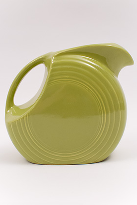 50s Colors Vintage Chartreuse Fiesta Vintage Disk Water Pitcher