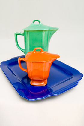 Riviera Pottery: Rare Large Cobalt Rectangular Batter Tray for Sale: Vintage Homer Laughlin Pottery: 30s 40s Fiestaware Americana Dinnerware