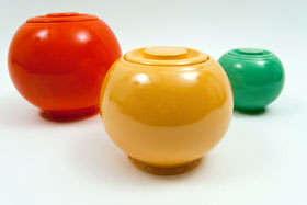 Original Yellow Fiesta Kitchen Kraft Medium, Ball Jar, Covered Jar Fiestaware Pottery For Sale
