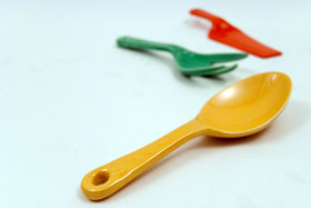 Original Yellow Kitchen Kraft  spoon: GoAlong Vintage Fiestaware Pottery For Sale
