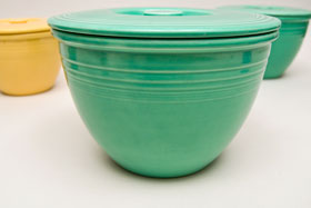 Vintage Fiesta Nesting Bowl Lid Number Four in Original Green