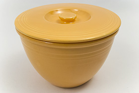 Vintage Fiesta Nesting Bowl Lid Number Four in Original Yellow