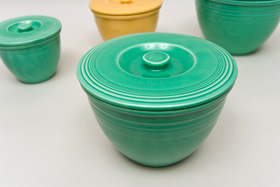 Vintage Fiesta Nesting Bowl Lid Number Three in Original Green