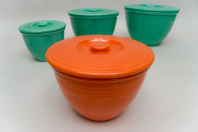 Vintage Fiesta Pottery Mixing Bowl Lids for Sale
