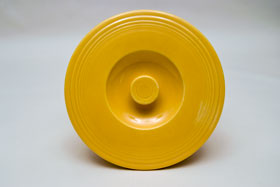 Vintage Fiesta Number Three Mixing Bowl Lid in Original Yellow Glaze