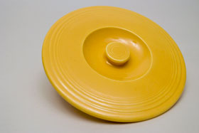 Vintage FiestaNesting Bowl Lid number two in original yellow: Gift, Rare, Hard to Find, Buy Onlline Now, American Antique Pottery