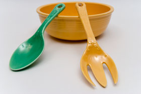 Kitchen Kraft Salad Fork in Yellow: Hard to Find Go-Along Fiestaware Pottery For Sale