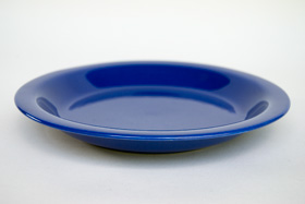 Fiesta Kitchen Kraft Pottery: Cobalt Pie Plate Baker For Sale