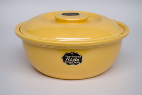 Kitchen Kraft Casserole in Yellow: Hard to Find Go-Along Fiestaware Pottery For Sale