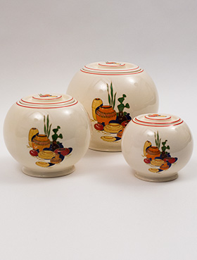 Set of Three Mexicana Kitchen Kraft Ball Jars with Red Stripes