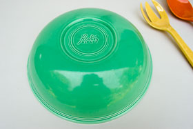 Vintage Fiesta 11 3/4 inch Fruit Bowl: Original Green Fiestaware For Sale Rare Gift Hard to Find 1930s 1940s