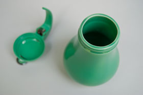 Rare Vintage Fiesta Green Syrup Pitcher For Sale
