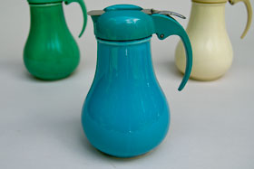Rare Vintage Fiesta Turquoise  Syrup Pitcher For Sale