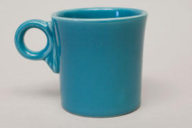 Vintage Fiestaware Turquoise Tom and Jerry Mug: Fiesta Dinnerware 30s 40s 50s 60s For Sale