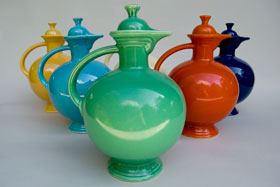 Vintage Fiesta Carafe: Original Green Fiestaware For Sale Rare Gift Hard to Find 1930s 1940s