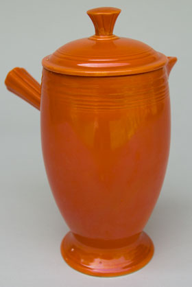 VIntage Fiestaware, Original Red, Demitasse Coffeepot, A.D., Stick Handle, Rare Pottery For Sale