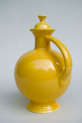 Vintage Fiesta Carafe in Original Yelow: Genuine, Old, Antique, For Sale, Gift