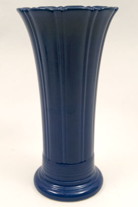 Vintage Fiesta 12 inch Original Cobalt Fiestaware Pottery Vase: Gift, Rare, Hard to Find, Buy Onlline Now, American Antique Pottery
