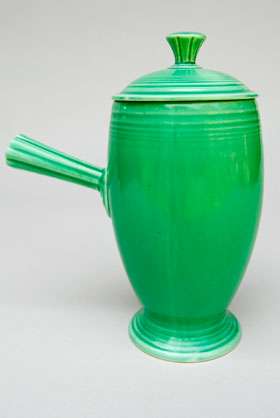 VIntage Fiestaware, Original Green, Demitasse Coffeepot, A.D., Stick Handle, Rare Pottery For Sale