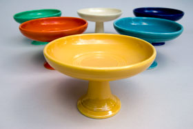 Fiestaware Vintage Yellow Sweets Comport FIesta Pottery For Sale