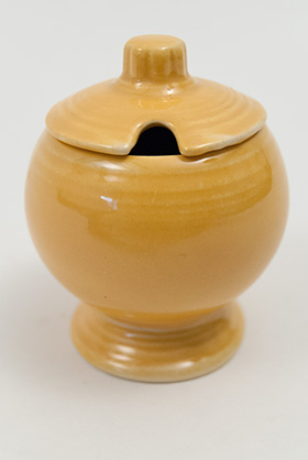 Vintage FIestaware: Original Yellow Fiesta Pottery Mustard For Sale
