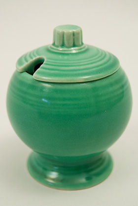 Vintage FIestaware: Original Green Fiesta Pottery Mustard For Sale