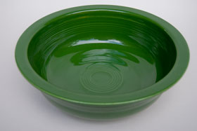 50s Fiestaware Forest Green Nappy Bowl