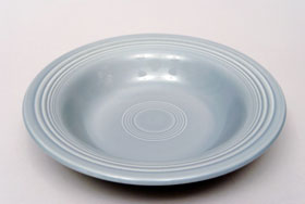 Vintage Fiesta 50s Color Gray Deep Plate: Hard to Find Go-Along Fiestaware Pottery For Sale