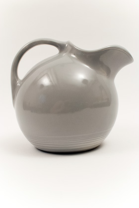 50s Gray Harlequin Service Water Pitcher