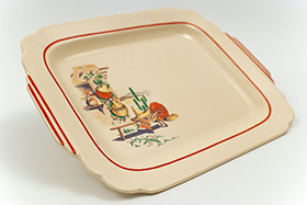Hacienda Decalware Homer Laughlin Red Stripe Batter Tray
