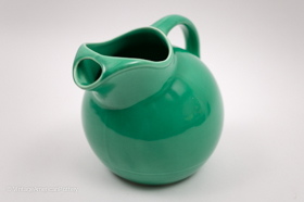 Harlequin Service Ball Water Pitcher in Original Green Glaze