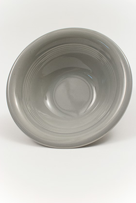 Harlequin Pottery Oatmeal Bowl in Original Gray Glaze
