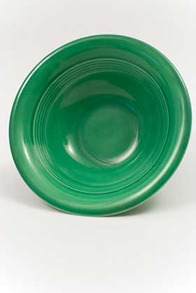 Harlequin Pottery Oatmeal Bowl in Original Green Glaze