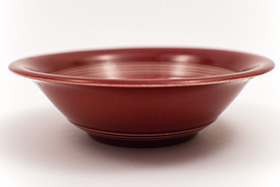 Harlequin Pottery Oatmeal Bowl in Original Maroon Glaze