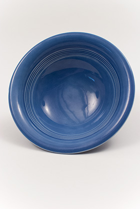 Harlequin Pottery Oatmeal Bowl in Original Mauve Blue Glaze