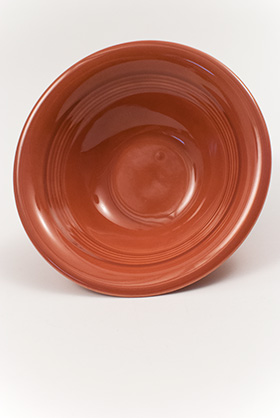 Harlequin Pottery Oatmeal Bowl in Original Rose Glaze