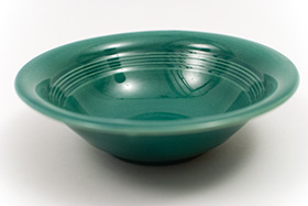 Harlequin Pottery Oatmeal Bowl in Original Spruce Glaze