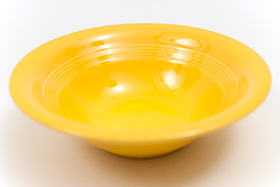 Harlequin Pottery Oatmeal Bowl in Original Yellow Glaze
